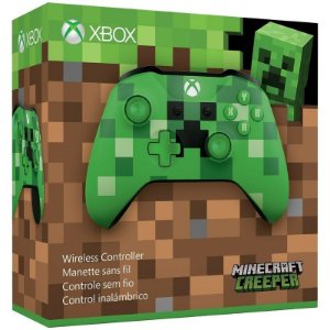 Controle Wireless Minecraft Creeper - Xbox One