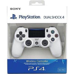 Controle Dualshock 4 Branco (Novo Modelo) - PS4