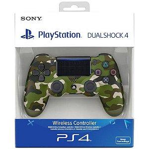 Controle Dualshock 4 Camuflado Verde (Novo Modelo) - PS4