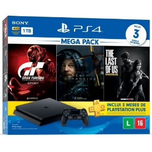 Console Playstation 4 1TB Slim Mega Pack 10