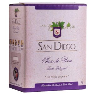 Suco de Uva Tinto Integral Bag-in-Box 3L San Diego