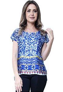 Blusa Basica Étnico Azul