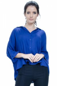 Camisa Poncho Viscose Royal