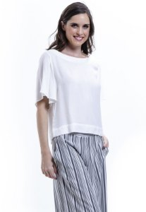 Blusa Cropped Basica Viscose Off