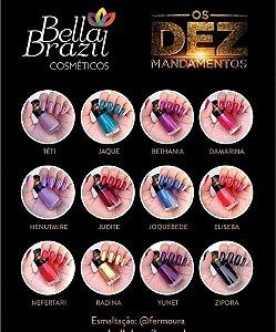 Os 10 Mandamentos Coleção Bella Brazil 12 esmaltes.