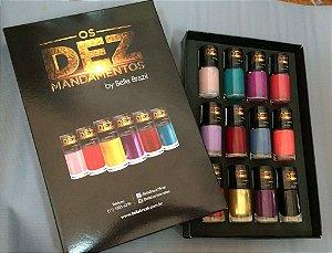 Kit Esmaltes Bela Brasil Os dez Mandamentos (12 esmaltes) Foto Ilustrativa,  Acompanha a Embalagem.Lindo Estojo