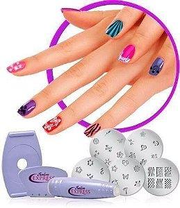 Kit Carimbos  Unha Tatuagem Carimbo Manicure 5 Placas