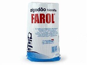 Algodão Hidrófilo 500g, Macio e com Alto Poder de Absorção - Farol (Caixa com 3-1,500 kg)