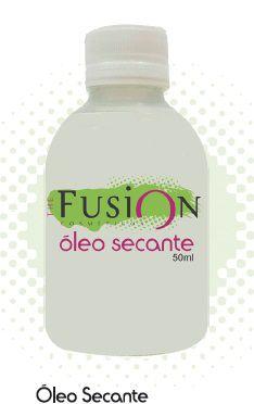 Óleo Secante Fusion 50 ML Secagem rápida produz Uma Película Protetora.