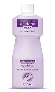 Removedor Acetona profissional Musa(Remove Esmaltes Glitter Escuros ou Resíduos de difícil Remoção)