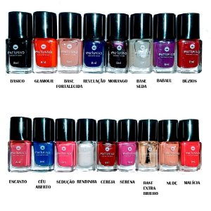 kit esmaltes exclusivo com 17 esmaltes