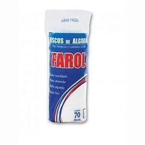 Algodão Farol Disco - 70 Unidades