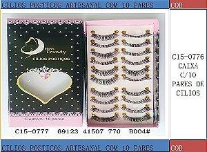 Cilios Postiços 10 pares Mis Frandy C15-0777