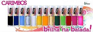 Carimbos-Kit esmaltes Hits Brilha na Balada Para Carimbos 8 Esmaltes(Branco ,Preto ,Dourado, Doce rosa ,Pink ,Prata , Nuvem azul e  Vermelho emoção)