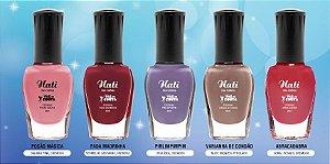 Kit Lançamento 12 Esmaltes perfumado Nati (Coleção faz de Conta e I love Verão)