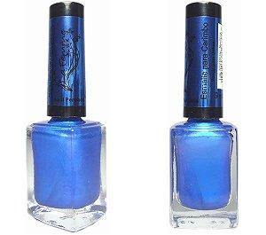 Esmalte carimbo lafemme azul perolado