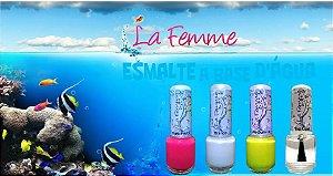 Kit Esmaltes infantil Lafeme a Base d'água. Sai na Água Morna, sem solvente.