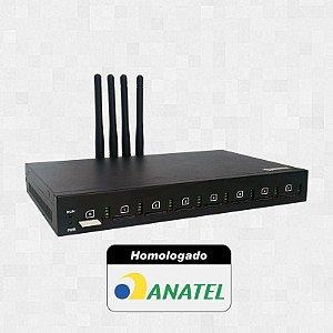 Gateway GSM - Plugcell GV4 - 4 Canais (Chipeira)