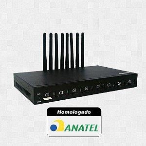Gateway GSM - Plugcell GV8 - 8 Canais (Chipeira)