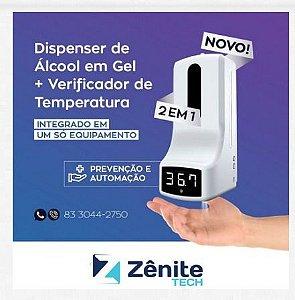 Termômetro com Dispenser de Álcool em Gel - Z9
