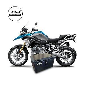Baús cemtral 50 litros Livi Exclusivos Para Moto BMW R 1200 GS 2013 em diante + Suporte.