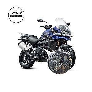 Protetor Motor Triumph Explorer 1200 ATÉ 2015- (SUPERIOR E INFERIOR COM PEDALEIRAS)
