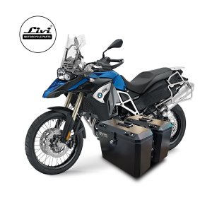 Baús laterais Livi para moto BMW F800 GS Adventure.