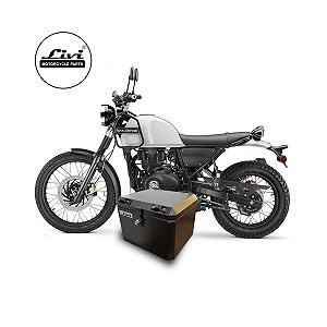 Top case Livi 43 litros moto Royal Enfield Himalayan + Suporte.