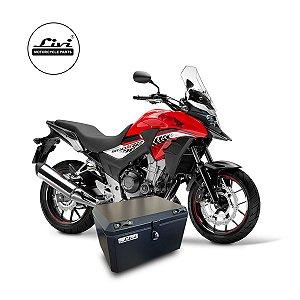 Baú central para Honda CB 500x até 2019 50 litros + Suporte.