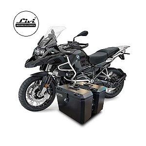 Baús Laterais 35 litros cada lado Livi para motos BMW R 1200 GS Adventure 2013 em diante ( Necessário substituir os suportes para instalação).