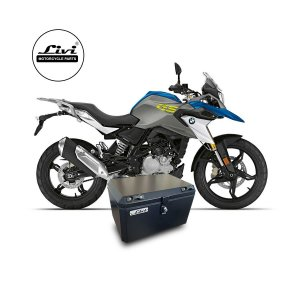 Baú Central Top Case 50 Litros Livi Exclusivo Para Moto BMW G 310 GS + Suporte.