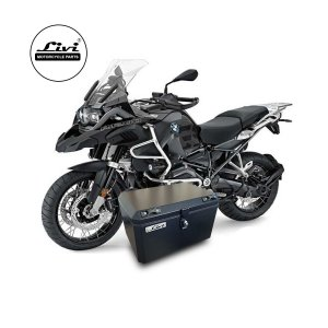 Baú Central Top Case 50 Litros Livi Exclusivo Para Moto BMW R 1200 GS Adventure 2013 em diante