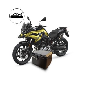 Baú Central Top Case 43 Litros Livi Exclusivo Para Moto BMW F750 GS + Suporte.