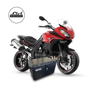 Baú Central Top Case 50 Litros Livi Exclusivo Para Moto Tiger Sport 1050 com bagageiro.