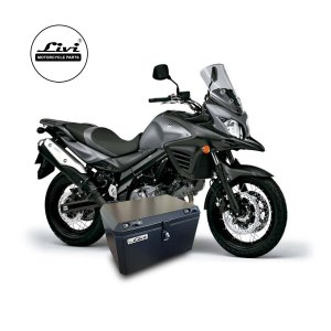 Baú Central Top Case 50 Litros Livi Exclusivo Para Moto V-Strom 650 2014  a 2017