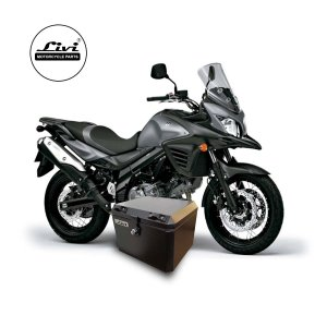 Baú Central Top Case 43 Litros Livi Exclusivo Para Moto V-Strom 650 2014  a 2017