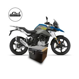 Baú Central Top Case 43 Litros Livi Exclusivo Para Moto BMW G 310 GS + Suporte.