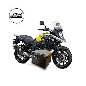 Baú Central Top Case 43 Litros Livi Exclusivo Para Moto V-Strom 650 2017 em diante