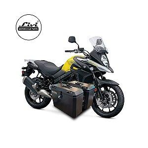 Baús Laterais 35 Litros Livi Exclusivos Para Moto V-Strom 650 2017 em diante