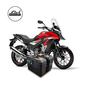 Baús laterais Honda CB 500X até 2019 35 litros + Suportes.