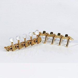 jogo de Tarraxa para viola pino fino dourada Ptv016 Paganini