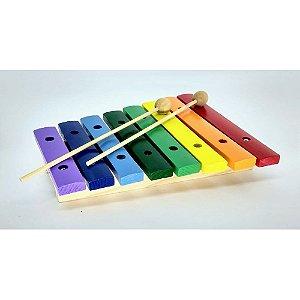 Xilofone Infantil 8 Notas Colorido 21x17 Cm Pxl808 Paganini