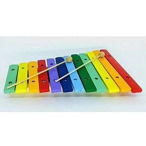 Xilofone Infantil Paganini 12 Notas Colorido 31x21 Cm Pxl812