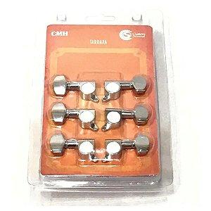 Tarraxa Blindada violão guitarra Custom Sound  Cmh 801 3l+3r