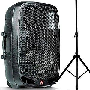 Caixa Ativa Staner Ps1501 15 pol Bluetooth Rodinha Pedestal
