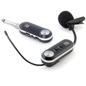 Microfone sem fio Lapela Staner Sfl10 p10 p2 Recarregável