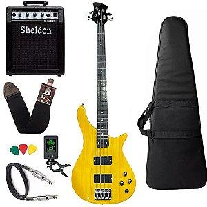 Kit Baixo Michael Modern Bass Ambar BM514N Amplificador