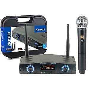Microfone Sem Fio Karsect Krd200sm Single de Mão 11934
