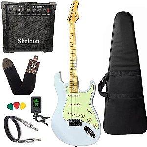 Kit Guitarra Tagima TG530 Branco Frozen FWH Amplificador