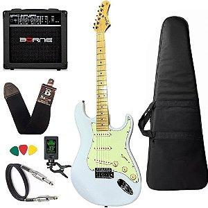 kit Guitarra Tagima TG530 Branco Frozen FWH Cubo Borne G30